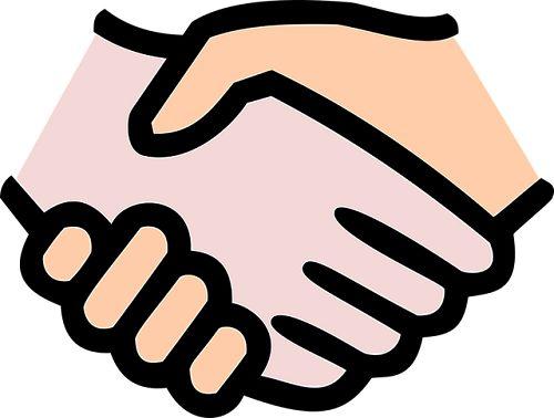 協力 握手
