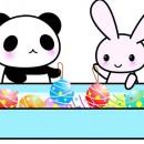 パンダ うさぎ 夏祭り